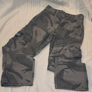 ⭐Boys Wrangler Gray Camo Pants Size 8 Reg